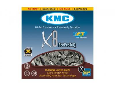 ЦЕПЬ KMC 8SP X8EPT (EPT) 1 / 2X3 / 32X116L
